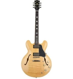 Полуакустическая гитара GIBSON 2018 MEMPHIS ES-335 FIGURED DARK VINTAGE NATURAL