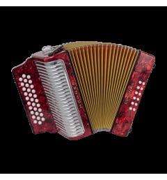 Аккордеон Hohner Corona II Classic FBbEb, red (A5543S)