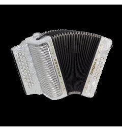 Аккордеон Hohner Corona II Classic FBbEb, white (A5542S)